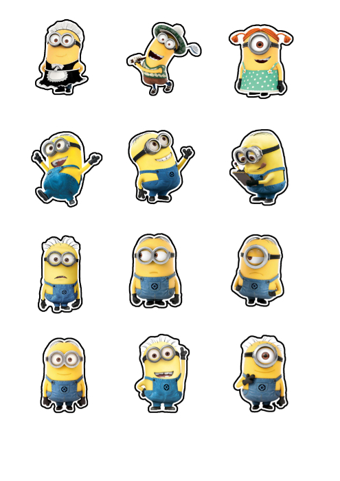 Minions Printable Cutouts approx 2\