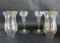 Princess House Heritage Hurricane Candle Holder Set of Two