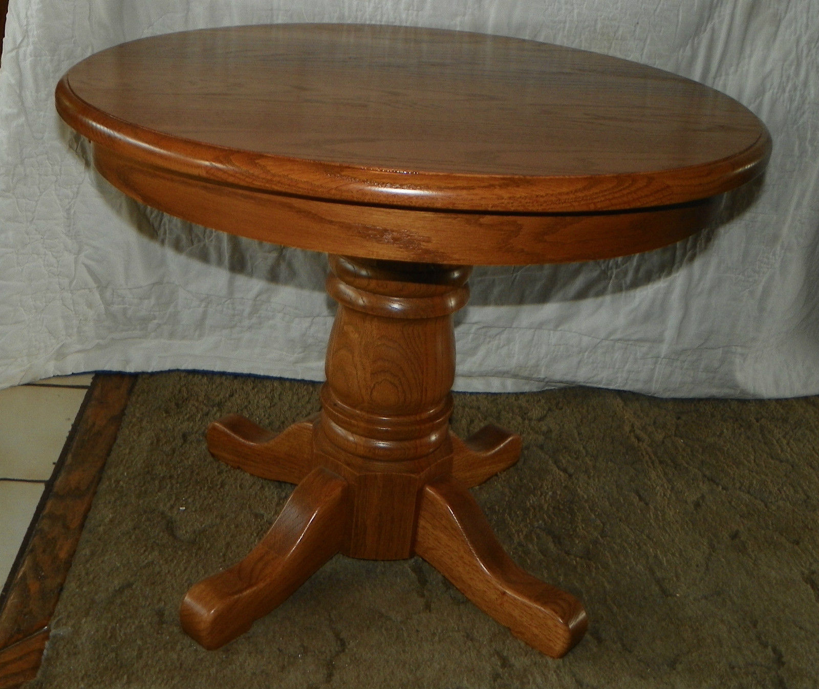 Round Oak End Tables Solid Oak Round End Table Side Table And 50 Similar Items