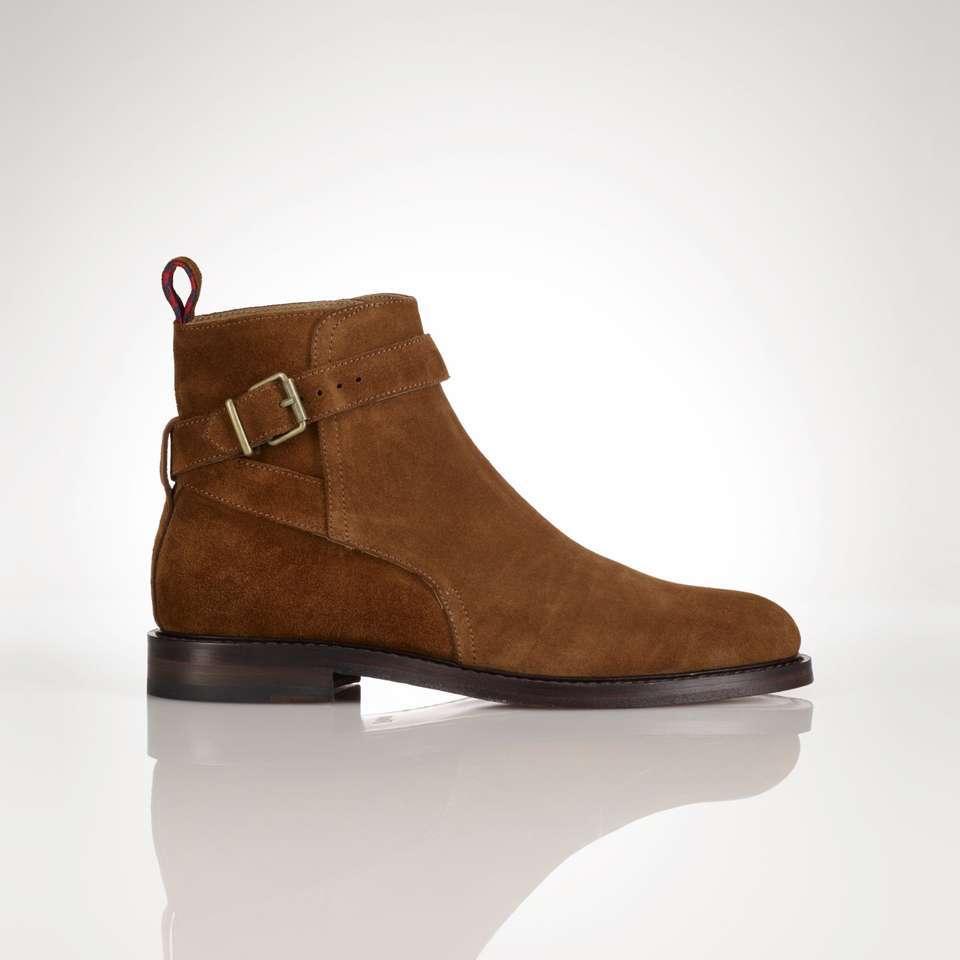 Handmade Men Jodhpur Suede Leather Boots Mens Brown