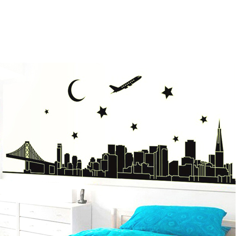 nous stickers wall stickers sofa tv background wall neon stickers home fine china tea set wall sticker wall stickers