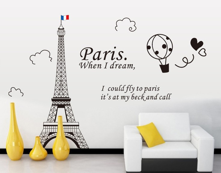 removable eiffel tower wall sticker papeis de parede wall sticker home eiffel tower giant wall stickers