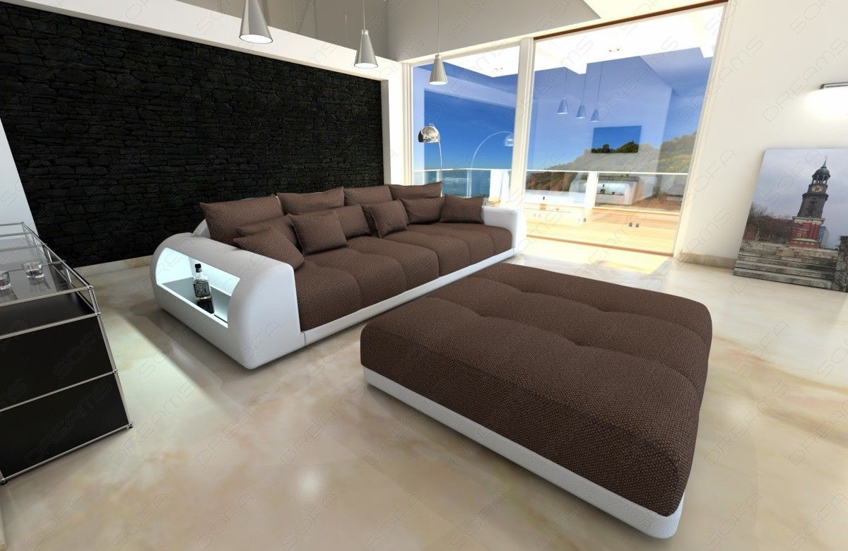 Sofa Led Xxl Big Sectional Sofa Bed Miami With Led Lights Rgb