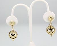 Vintage gold tone filigree Christmas ball ornament screw ...