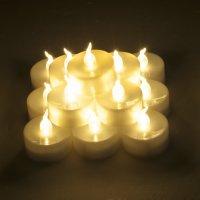 Weanas-24PC Warm White LED Tea Light Tealight Candles ...
