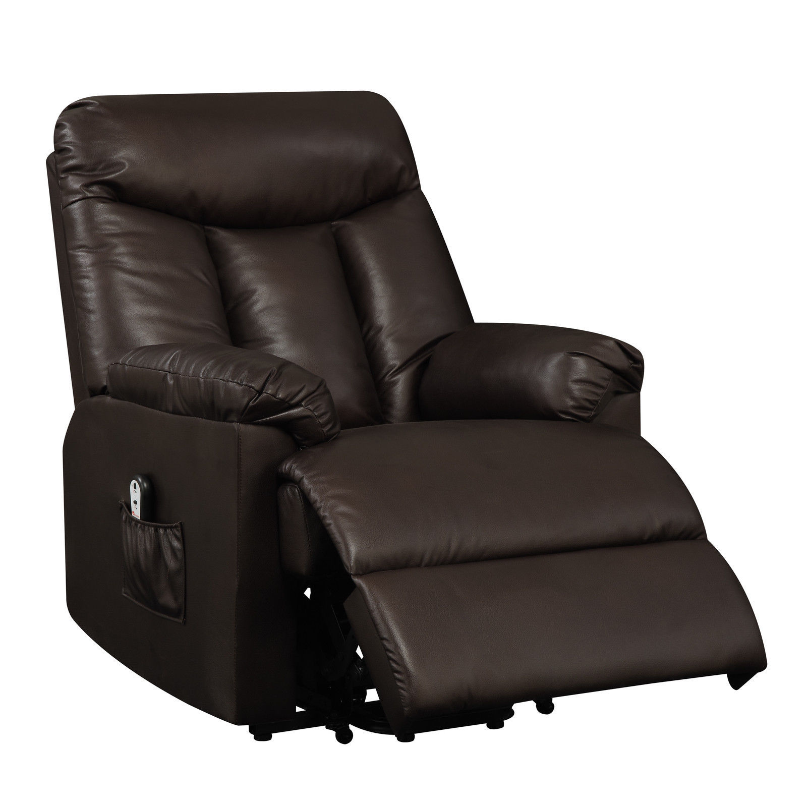 Electric Recliner Leather Chairs Electric Lift Chair Recliner Brown Leather Power Motion