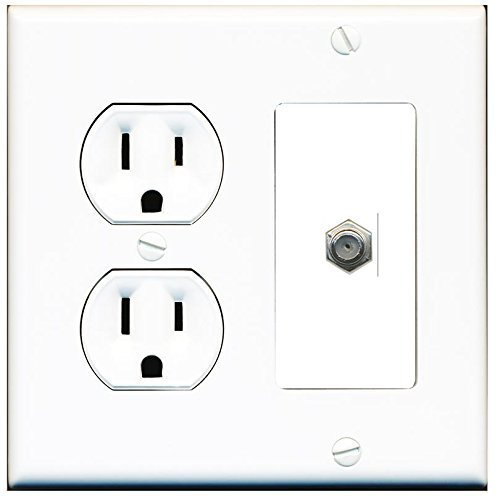 15 amp 125v power outlets 1 cat5e ethernet and 1 coax wall