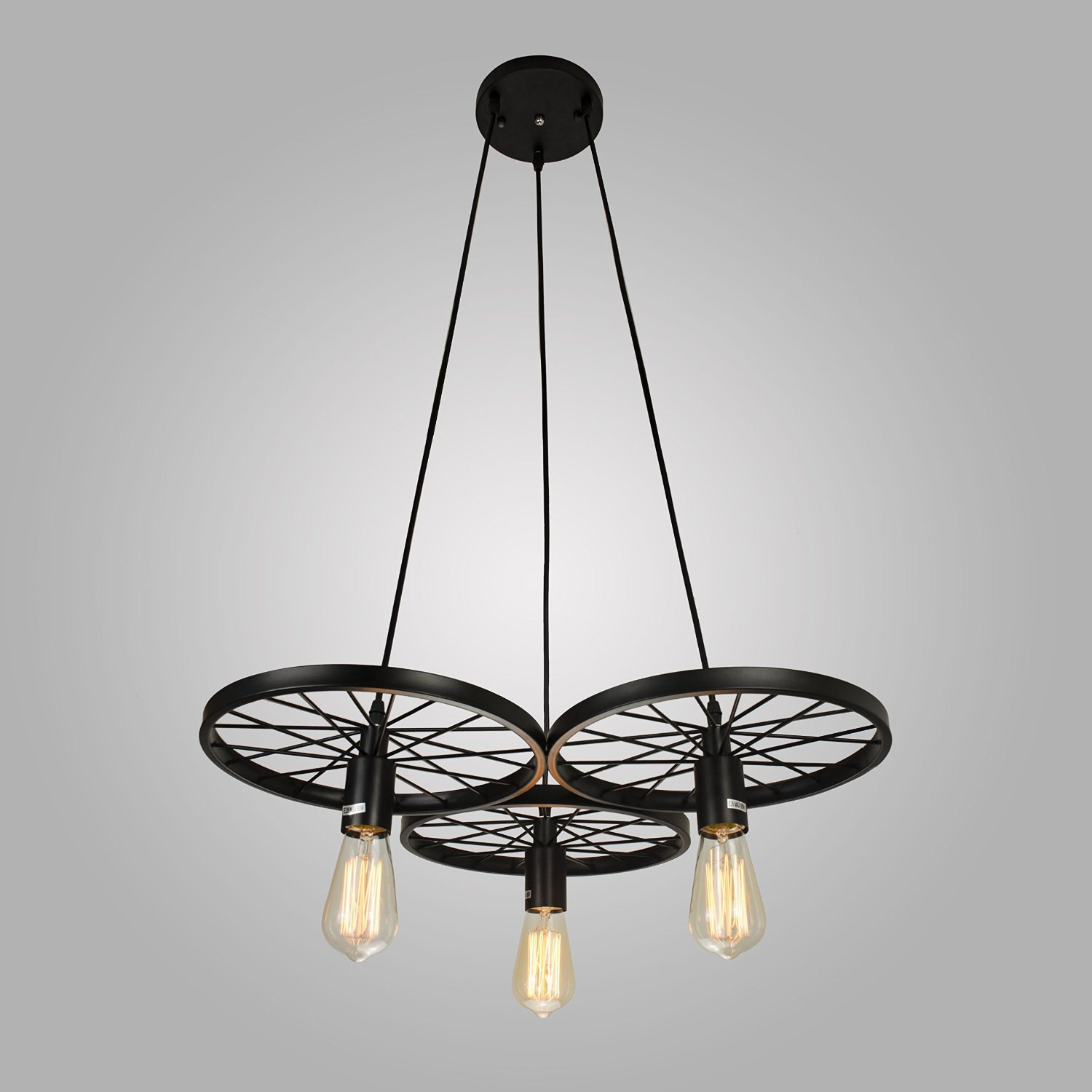 Industrial Style Lighting Industrial Style Pendant Light 3 Edison Bulbs Chandelier
