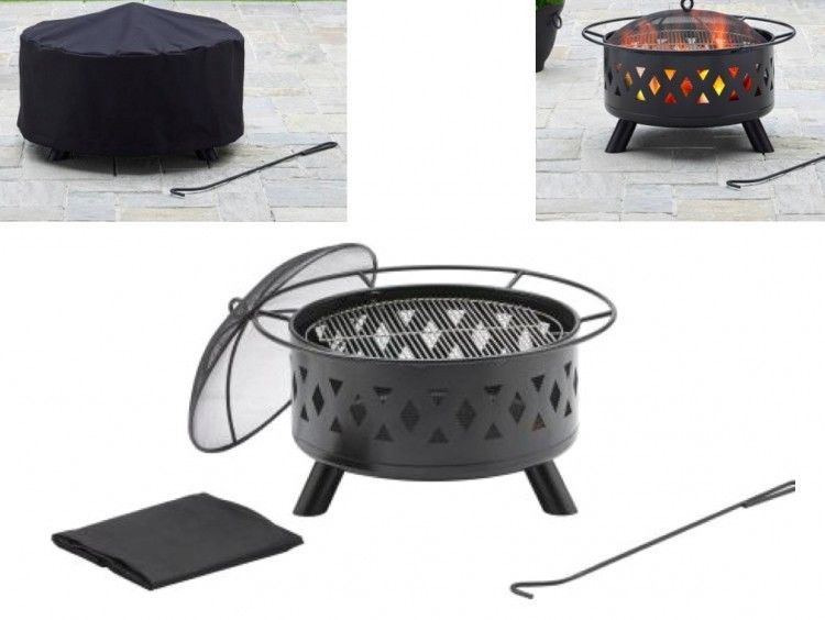 Outdoor Fire Pit Wood Burning Ring Bbq Fireplace Patio