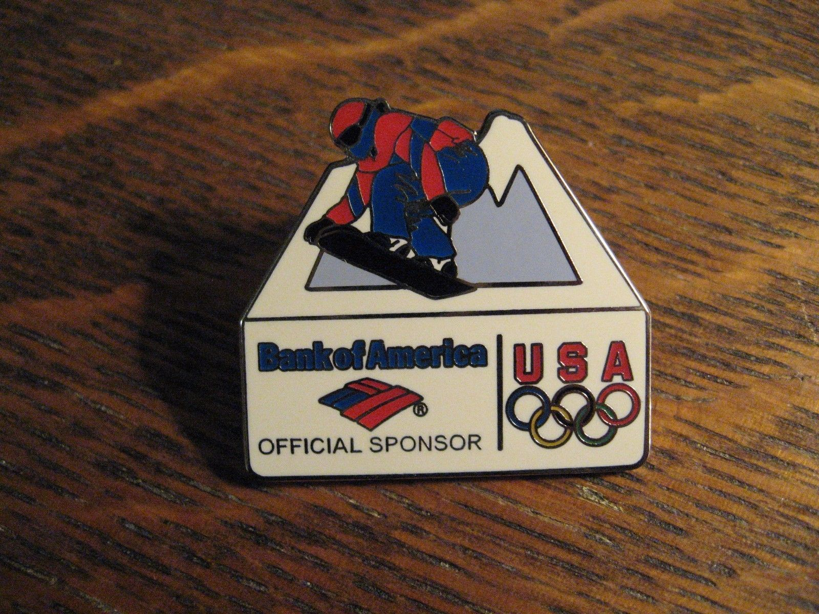 Snowboard Bank Olympic Snowboard Pin Bank Of America Usa Winter Olympic