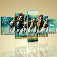 Large Wall Art Famous Horse Racing Abstract Painting On ...