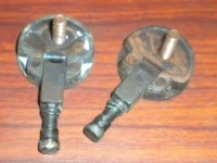 Singer Sewing Machine Cabinet Head Hinges w/Screws Pair - Feet