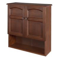 Wall Mounted Cabinet.Bathroom Storage 3 Shelves Mahogany ...