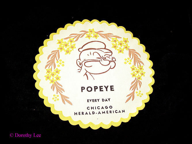 Vintage Chicago Herald Comics Paper Coaster Popeye Popeye