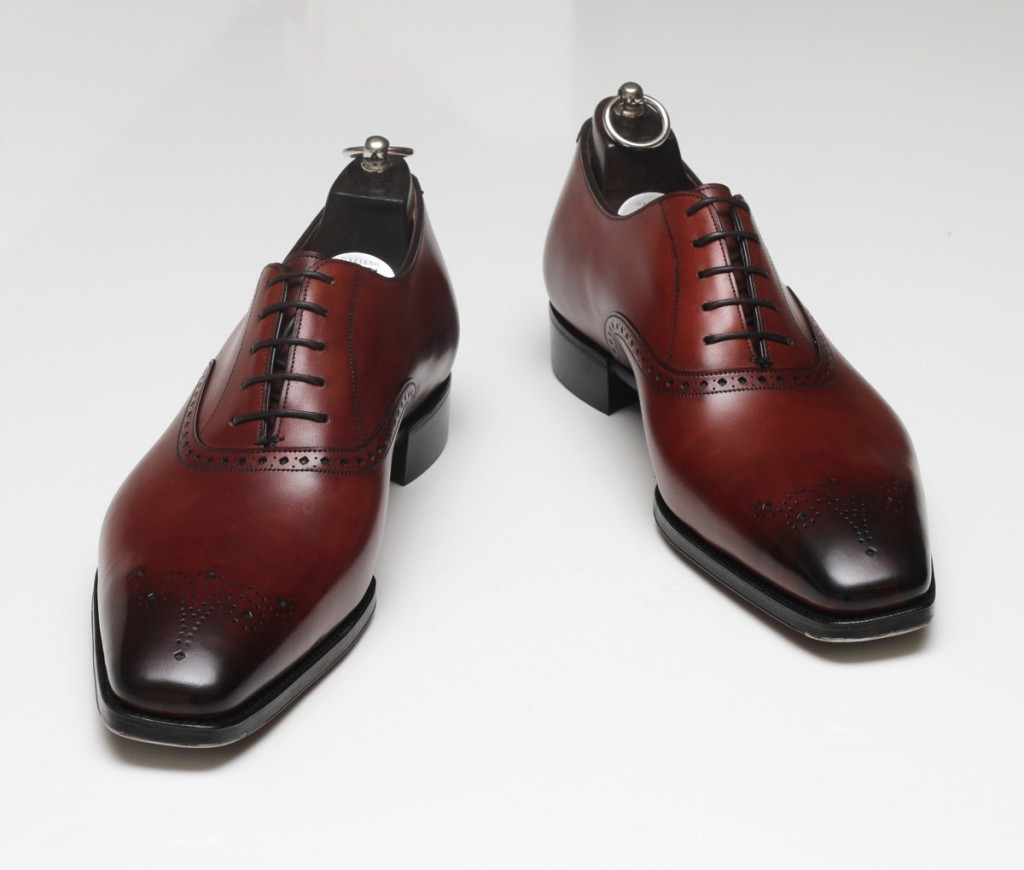 Handmade Mens Formal Leather Shoes Men Maroon Dress