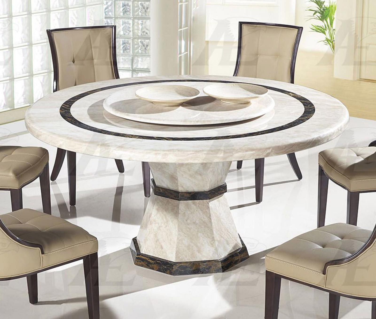 Round Marble Top Dining Table American Eagle Dt H38 Beige Marble Top Round Dining Table