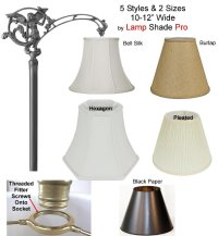 Uno Lamp Shades for Floor Lamps w/Threaded Screw On Socket ...