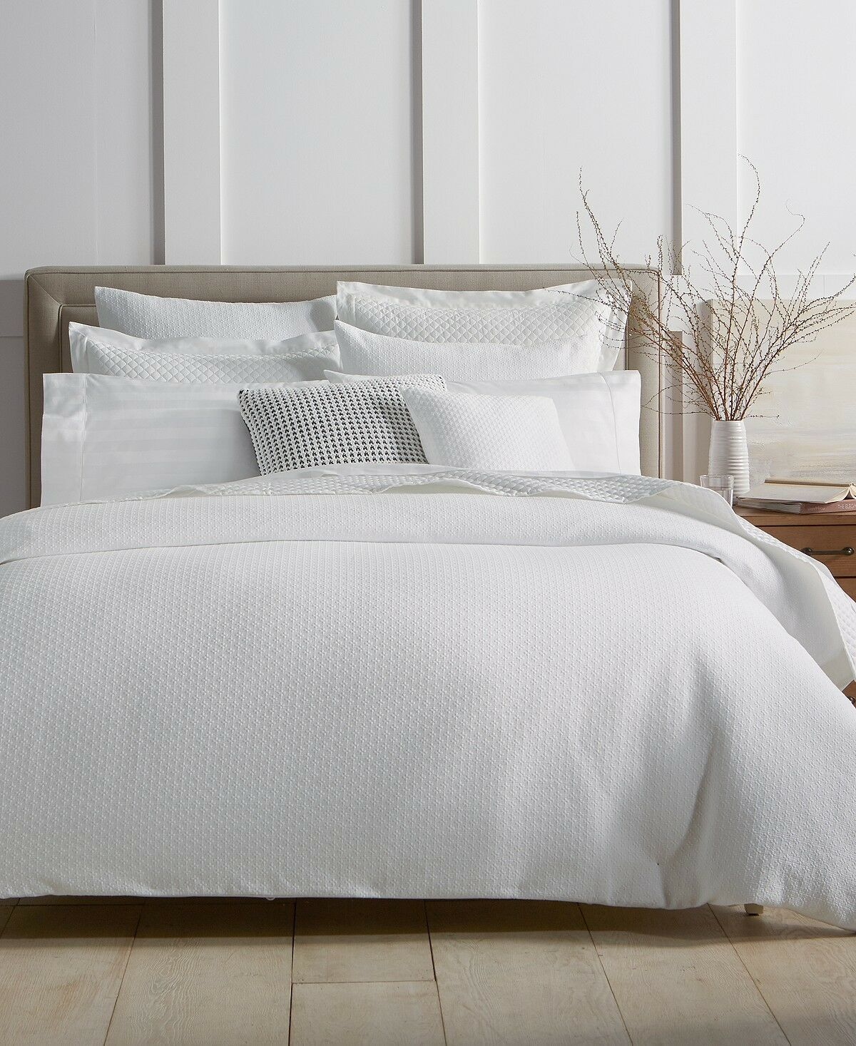 Damask Duvet Charter Club Damask Designs Diamond Dot Cotton F Q Duvet Cover Shams White