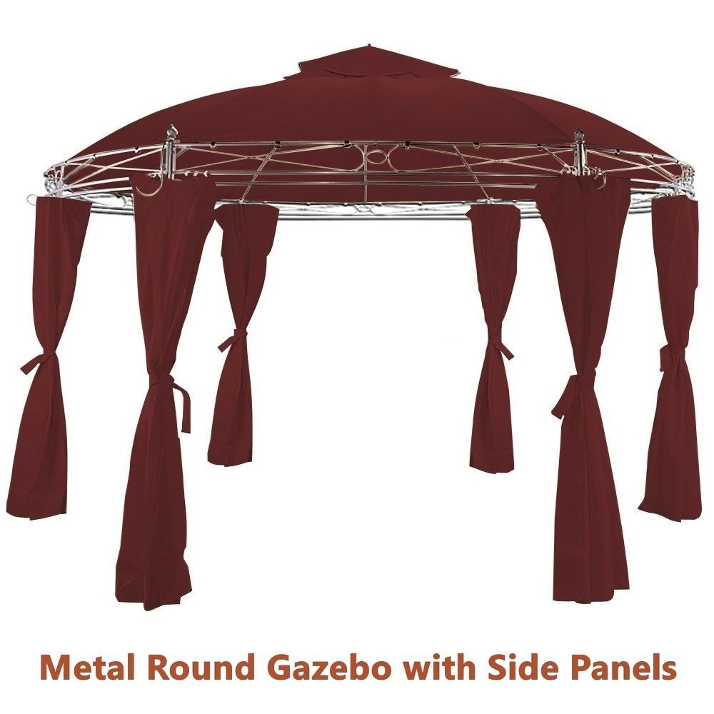 Metal Garden Gazebo Metal Garden Circular Gazebo Side Panels And 50 Similar Items
