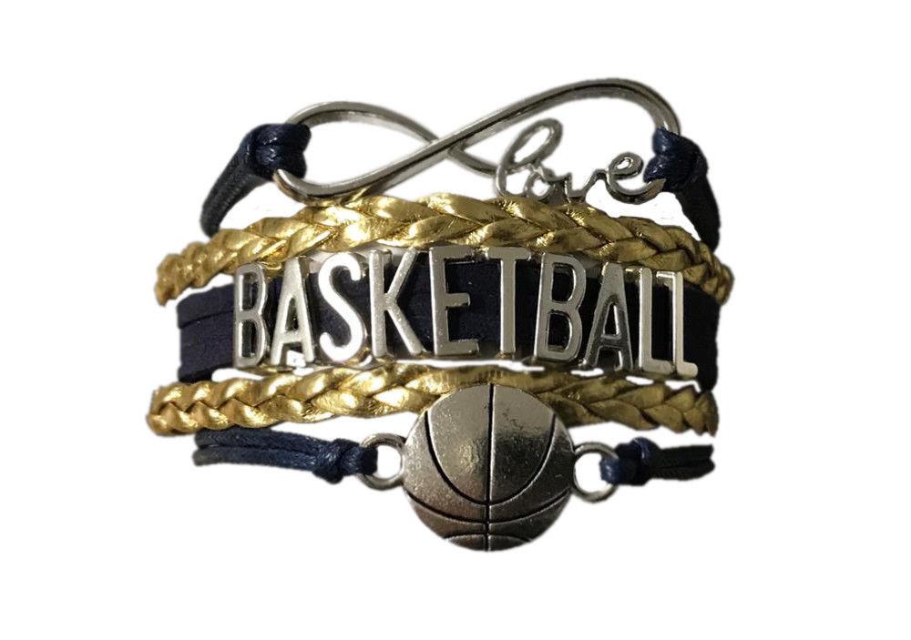 Basketball Charm Bracelet Girls Infinity Love Adjustable