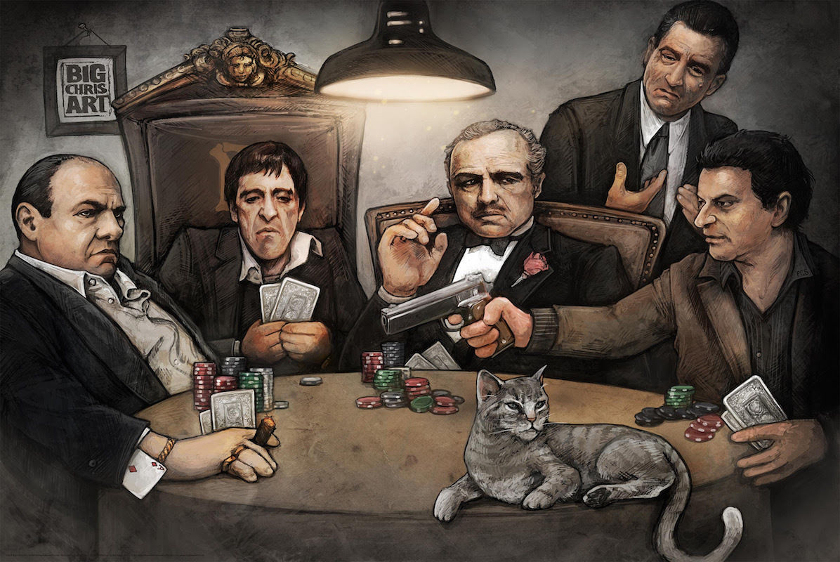 Hard Work Quotes Wallpapers Hd Gangsters Playing Poker Big Chris Art And 50 Similar Items