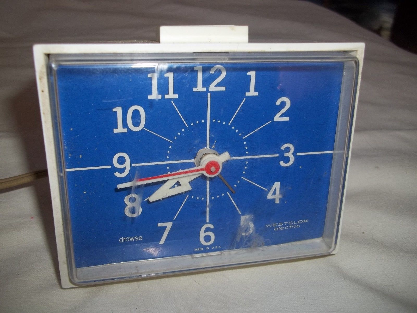 Atomic Wall Clocks Made In Usa Nice Vintage Electric Alarm Clock In A Wood Case Made By