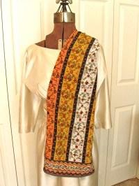 Almost vintage. Museum of Modern Art long silk scarf ...