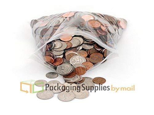 Reclosable Bag 2 Mil 6quot X 4quot Clear Zipper Plastic Storage