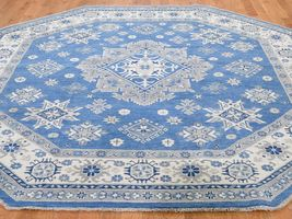 7399quotx839 Vintage Look Kazak Pure Wool Octagonal Handknotted