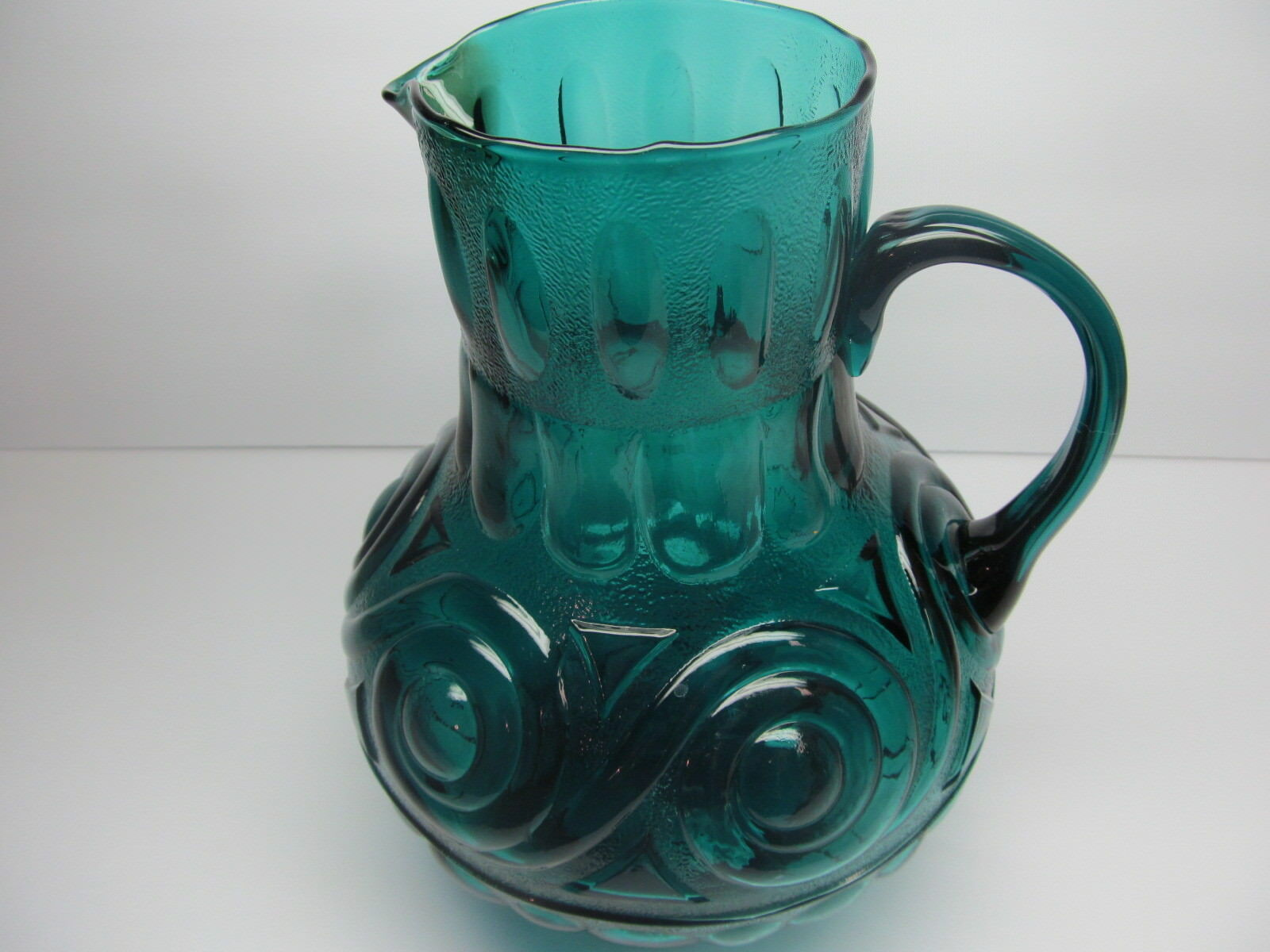 Arte Italica Medici Canisters Empoli Blue Hand Blown Glass Pitcher Amazing And 50 Similar Items