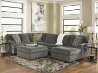 SOLE-OVERSIZED MODERN GRAY FABRIC SOFA COUCH SECTIONAL SET ...