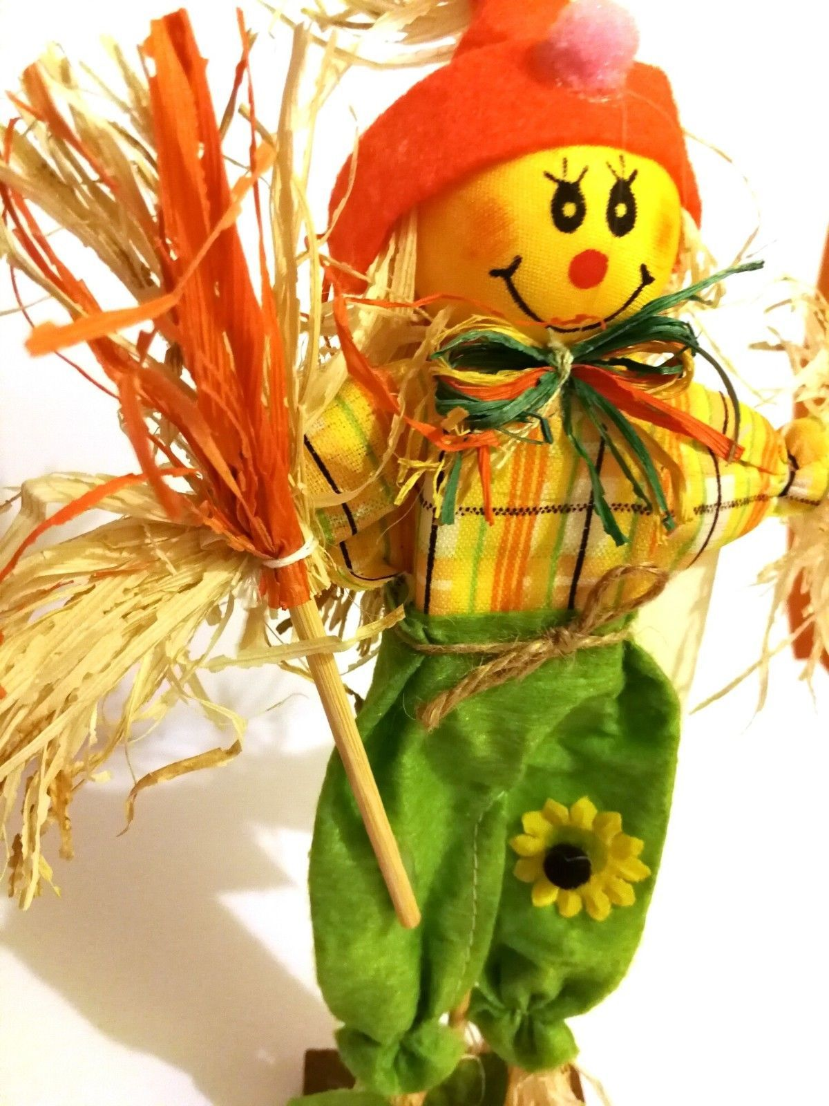 Living At Home Ostern Easter Wooden Straw Happy Scarecrow And Similar Items