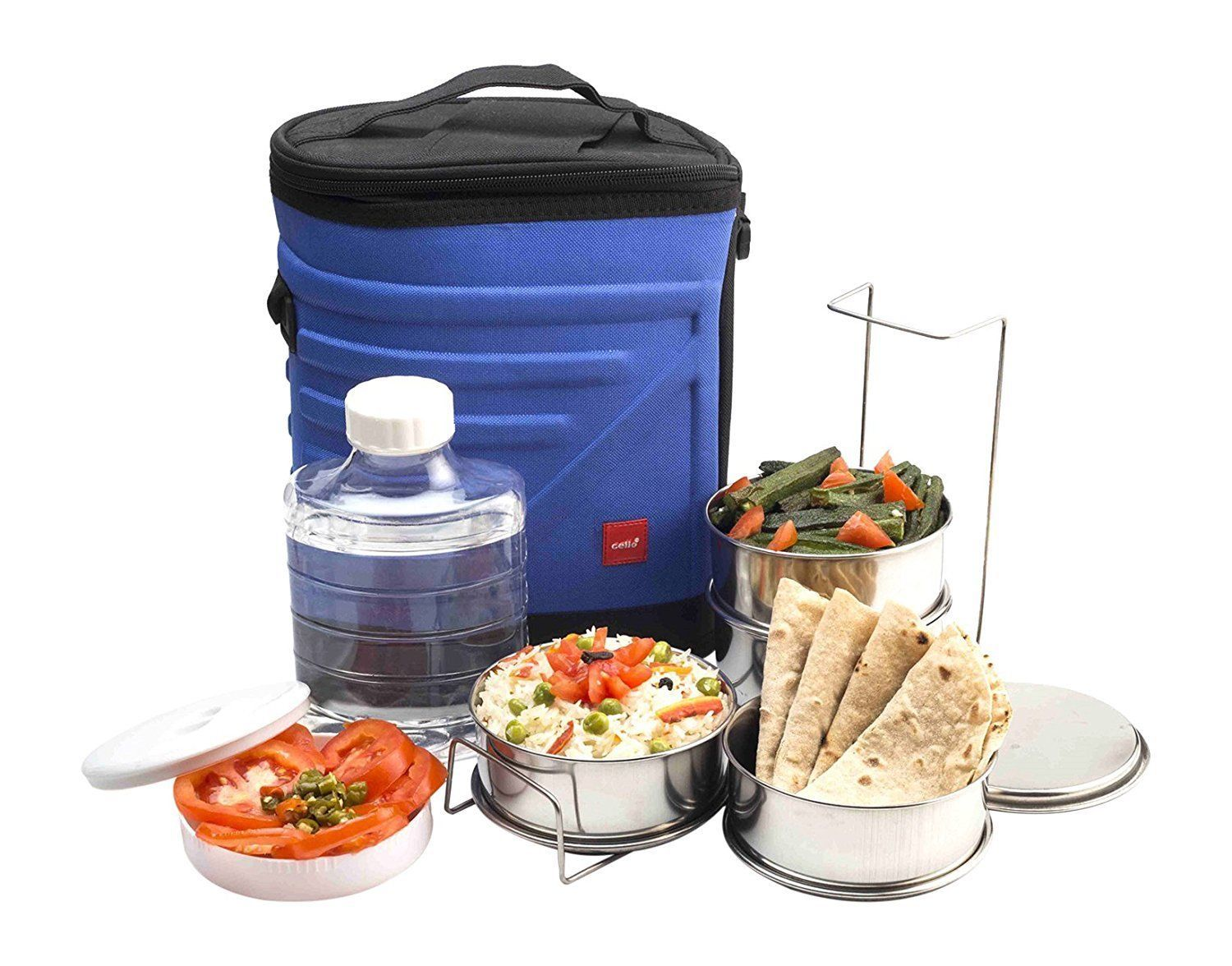 Cello Archo Plastic 3 Container Lunch Packs Blue