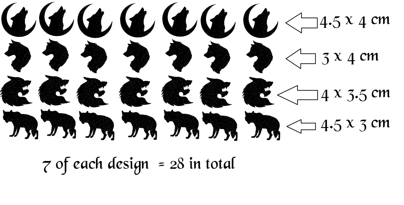 Vinyl 200 Cm Breed Wolf Black Vinyl Stickers And 50 Similar Items