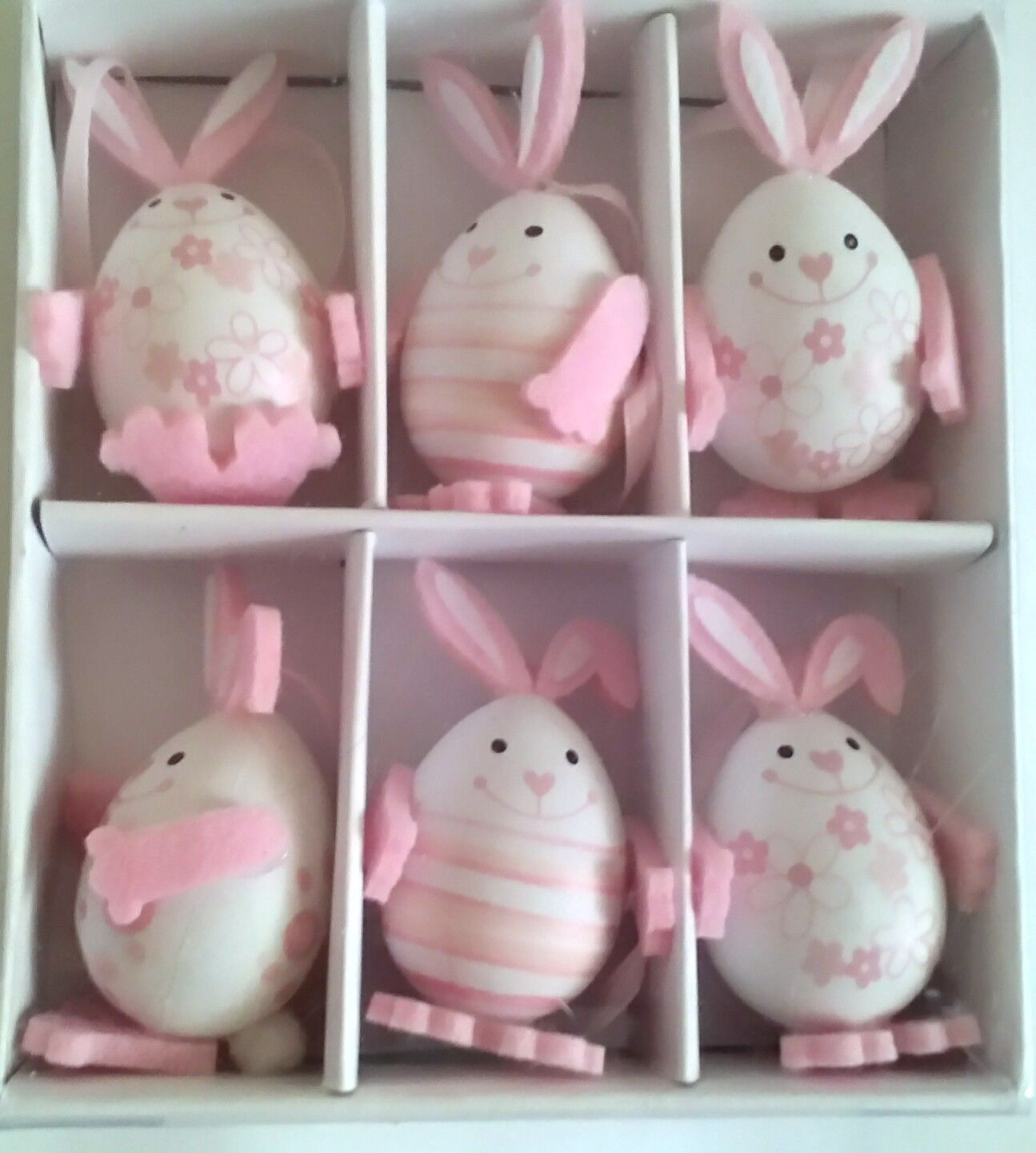 Living At Home Ostern 6 Pcs Easter Bunny Egg Decorations Ostern And Similar Items