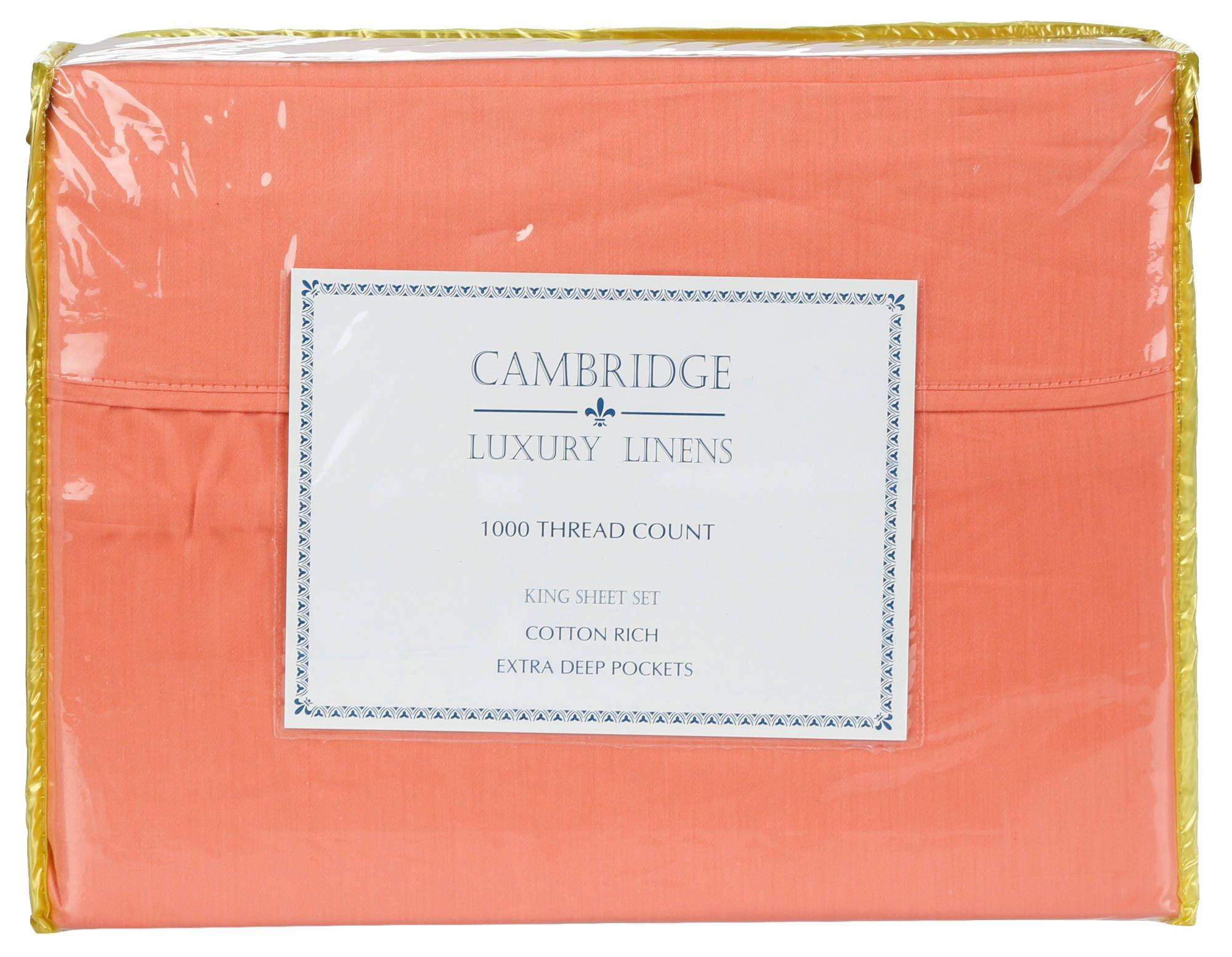 Deep Fitted Sheets Queen Size 1000 Thread Count 4 Pc Queen Sheet Set Salmon