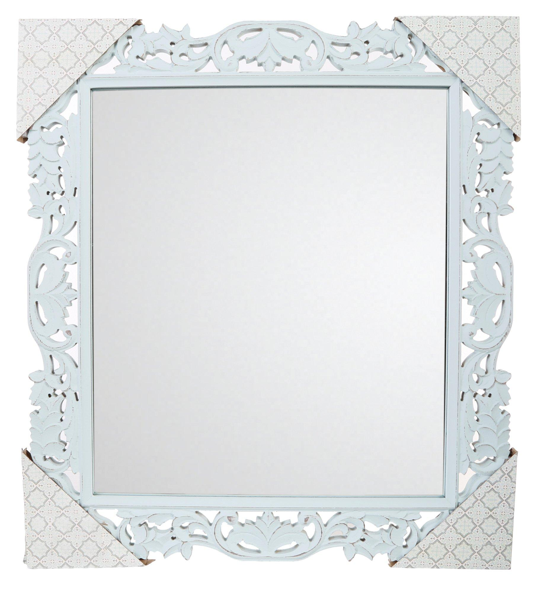 Decorative Mirror Carved Frame 20x18 Decorative Mirror Mint