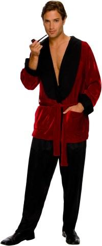 Playboy Men's Smoking Jacket Adult Costume   BuyCostumes.com