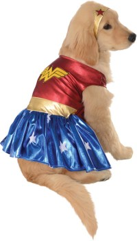 Wonder Woman Deluxe Dog Costume | BuyCostumes.com