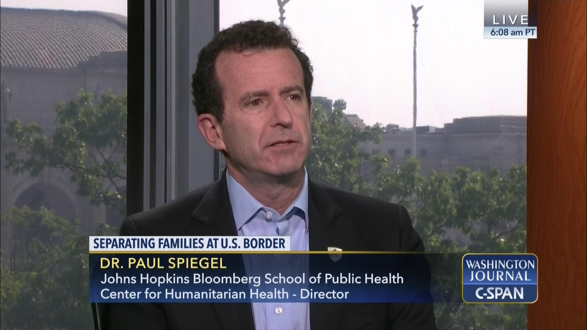 Spiegel Sarah B Dr Paul Spiegel On Public Health Implications Of Immigration Policy
