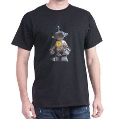 Black T-Shirt with 10 robot