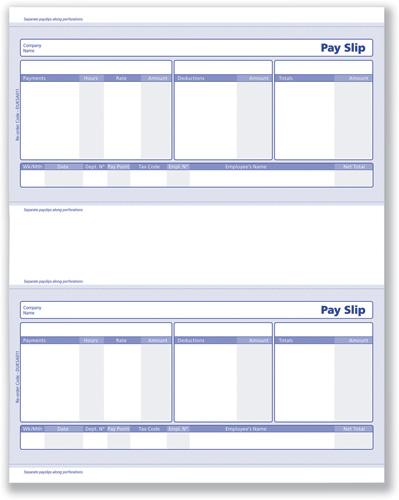 Blank Wage Slips - Fiveoutsiders - blank wage slips