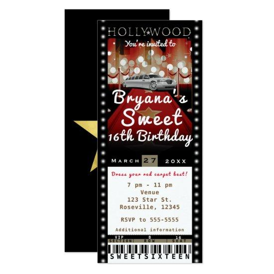 Hollywood Red Carpet VIP Party Ticket Invitations \u2013 Candied Clouds