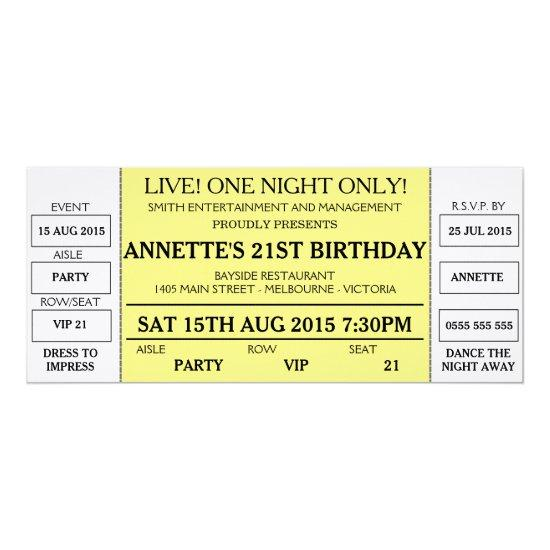 Unique Birthday Invitations (Concert Ticket Styled) \u2013 Candied Clouds
