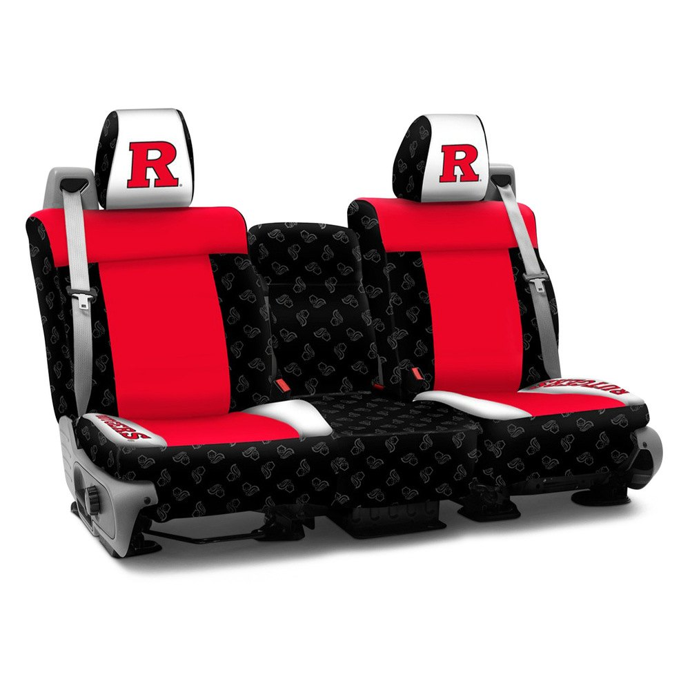 Coverking Cscelahm7001 Ela51 Licensed Collegiate 2nd Row Custom Seat Covers Rutgers State University Of New Jersey Logos