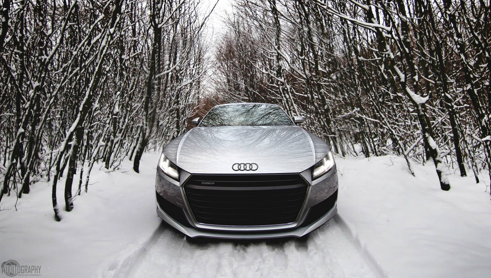 Solid Black Wallpaper 2015 Audi Tt Is The Perfect Snow Angel Carscoops