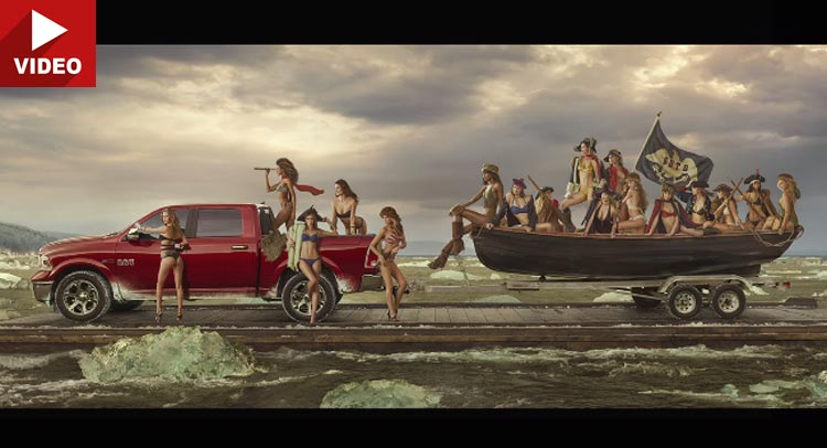 Ram and Sports Illustrated Recreate \u201cWashington Crossing the