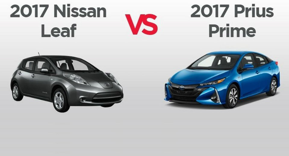 Green Comparison Chart Nissan Leaf Vs Toyota Prius Prime Carscoops