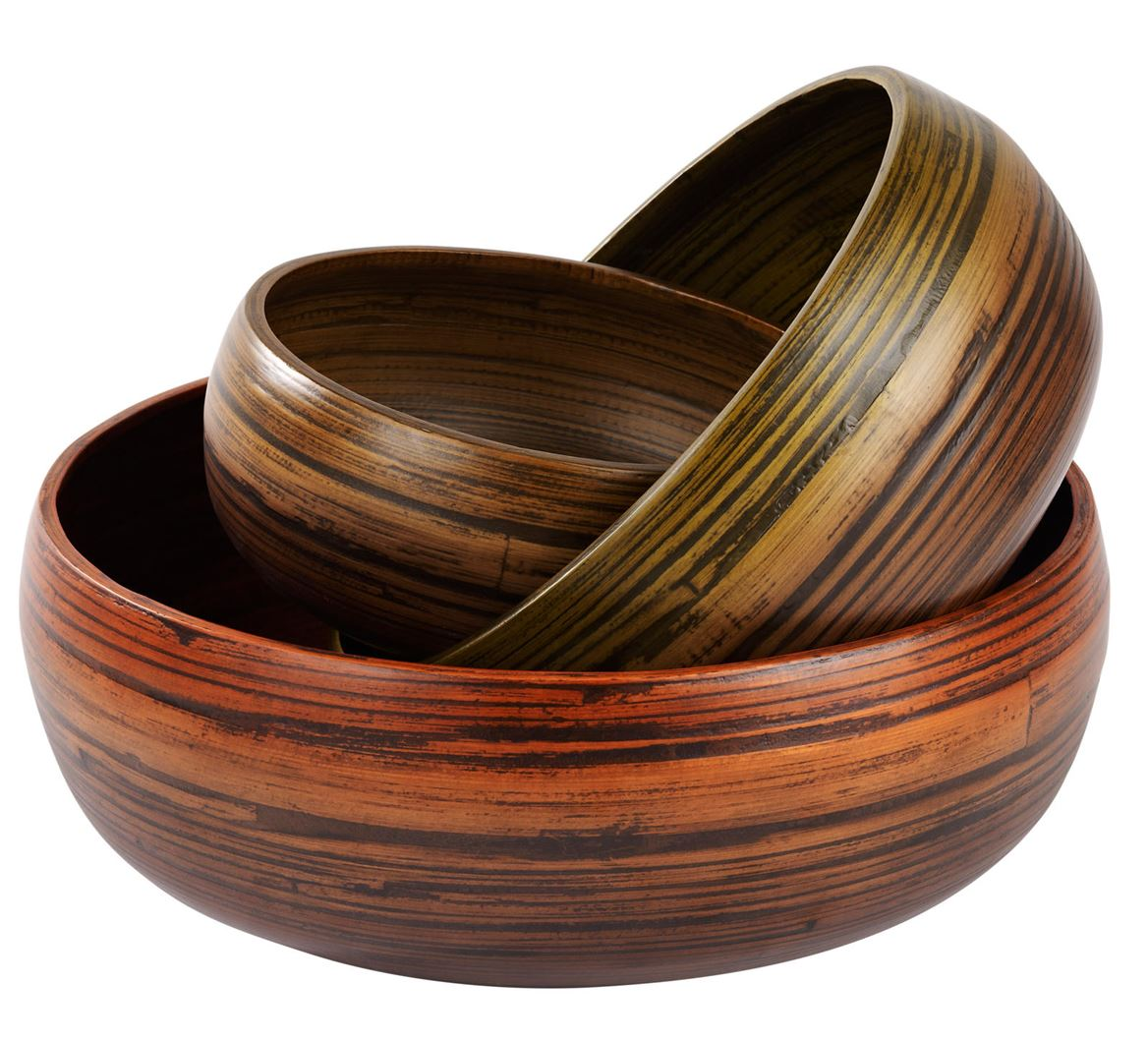 Fuente Decorativa Home Bamboo Fuente Decorativa S Marrón A 9 Cm Ø 22 Cm