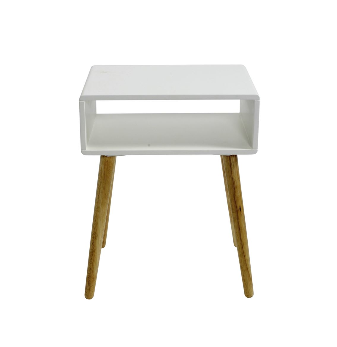 Table De Chevet 30 Cm Oliver Table De Nuit Blanc H 52 X Larg 40 X Long 30 Cm